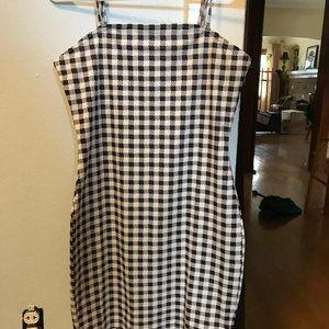 Black and white checkered tight/fitted dress